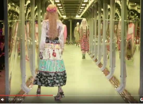 2017 구찌 가을 겨울 남자 여자 콜라보 런웨이 영상